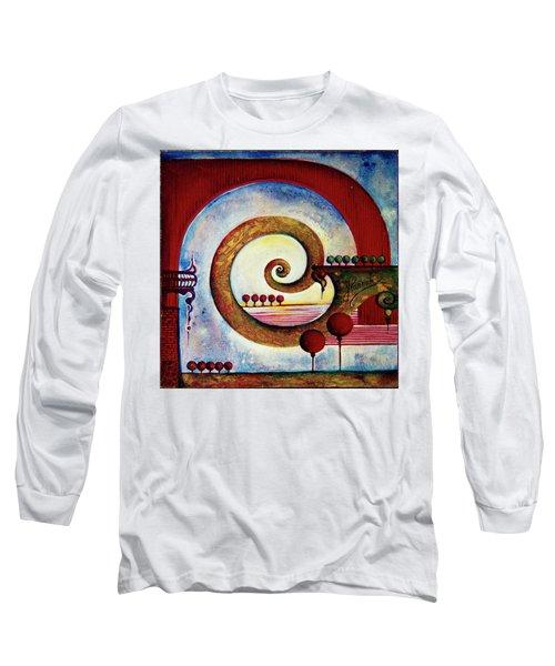 In The World Of Balance Long Sleeve T-Shirt by Anna Ewa Miarczynska