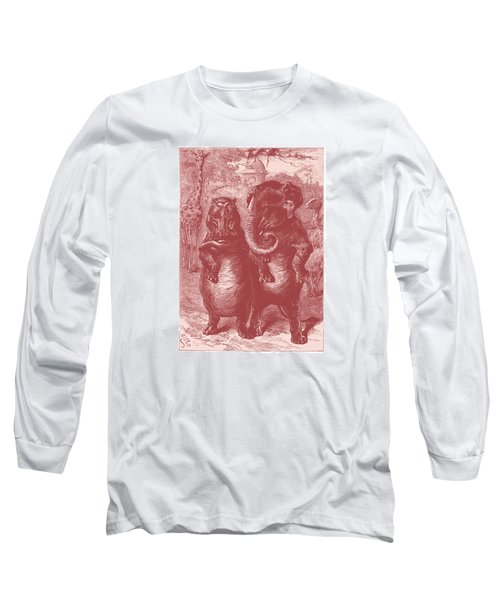Long Sleeve T-Shirt featuring the drawing In The Zoo by David Davies