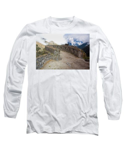 Inca Ruins In Clouds Long Sleeve T-Shirt