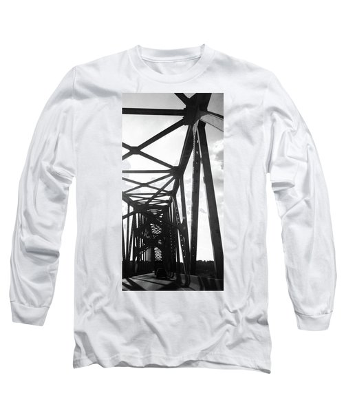Long Sleeve T-Shirt featuring the photograph Indefinite Sight Bw by Jamie Lynn