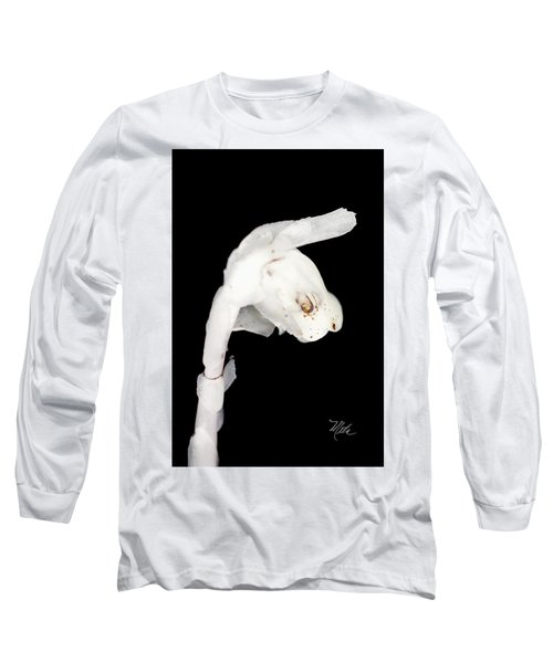 Long Sleeve T-Shirt featuring the photograph Indian Pipe Head by Meta Gatschenberger