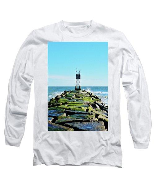 Indian River Inlet Long Sleeve T-Shirt by William Bartholomew