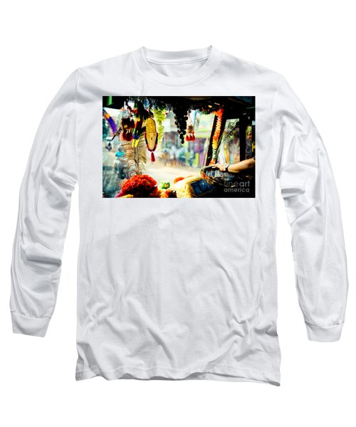 Indian Street From Window In The Bus Kerala India Long Sleeve T-Shirt