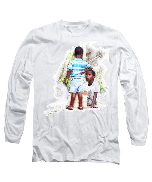 Indigenous Caribbean Kids In Panama Long Sleeve T-Shirt