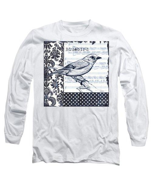 Indigo Vintage Songbird 1 Long Sleeve T-Shirt