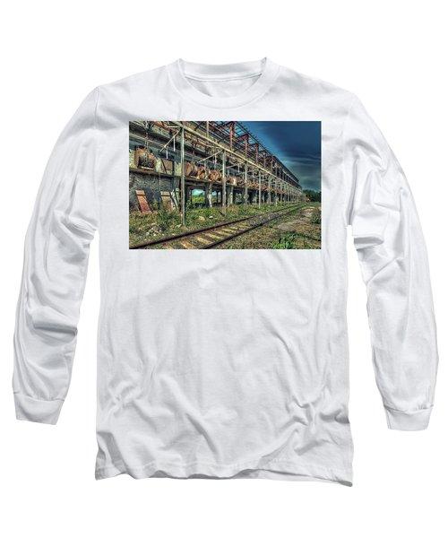 Industrial Archeology Railway Silos - Archeologia Industriale Silos Ferrovia Long Sleeve T-Shirt