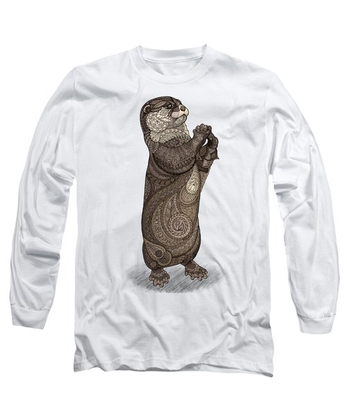 Infatuated Otter Long Sleeve T-Shirt by ZH Field