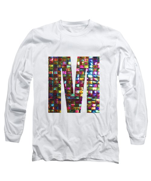 Initial Identity M Mm Mmm Alpha Alphabet Decorations Signature At By Navinjoshi From Canada At Fine Long Sleeve T-Shirt