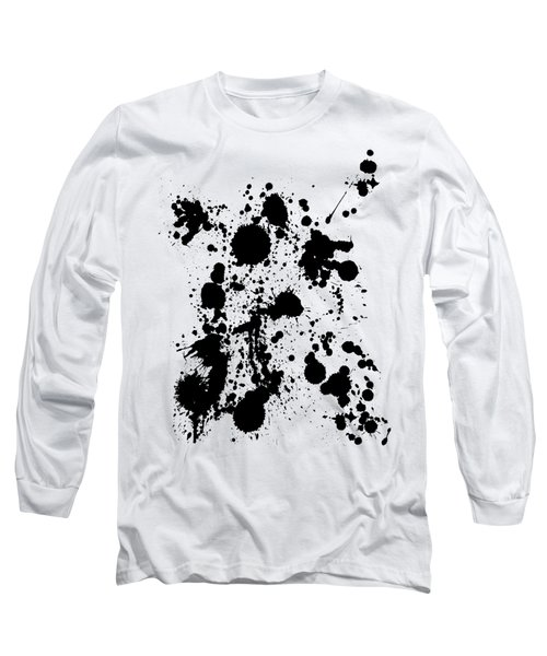 Long Sleeve T-Shirt featuring the photograph Ink Spattered All Over by Menega Sabidussi