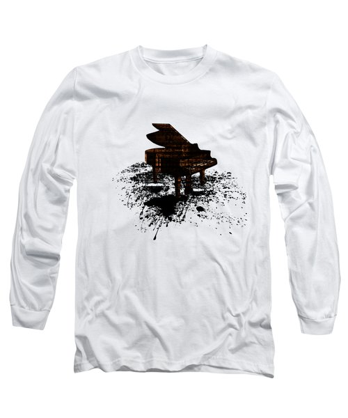 Inked Gold Piano Long Sleeve T-Shirt by Barbara St Jean