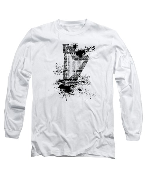 Inked Harp Long Sleeve T-Shirt