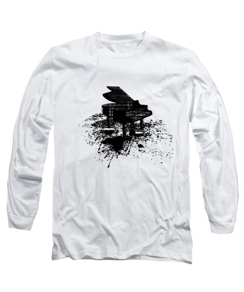 Inked Piano Long Sleeve T-Shirt by Barbara St Jean