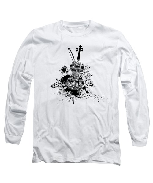 Inked Violin Long Sleeve T-Shirt by Barbara St Jean