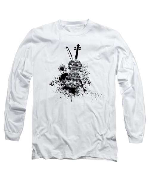 Inked Violin Long Sleeve T-Shirt