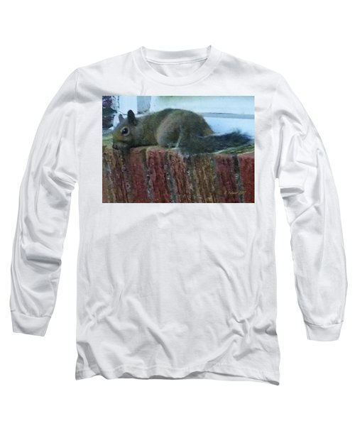 Long Sleeve T-Shirt featuring the photograph Inquisitor Visitor by Denise Fulmer