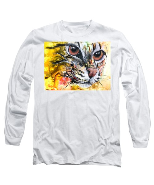 Long Sleeve T-Shirt featuring the painting Intensity by Sherry Shipley