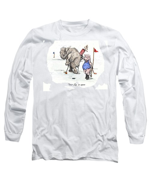 Long Sleeve T-Shirt featuring the painting Interrupting Concentration by Donna Tucker