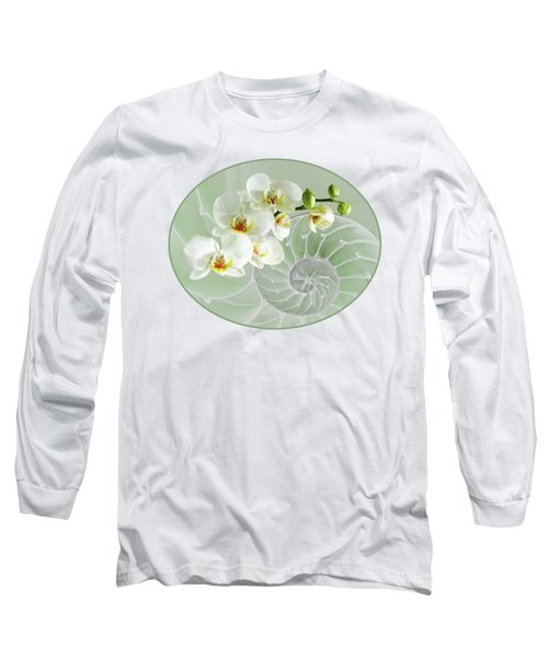 Intimate Fusion In Cool Green Long Sleeve T-Shirt by Gill Billington