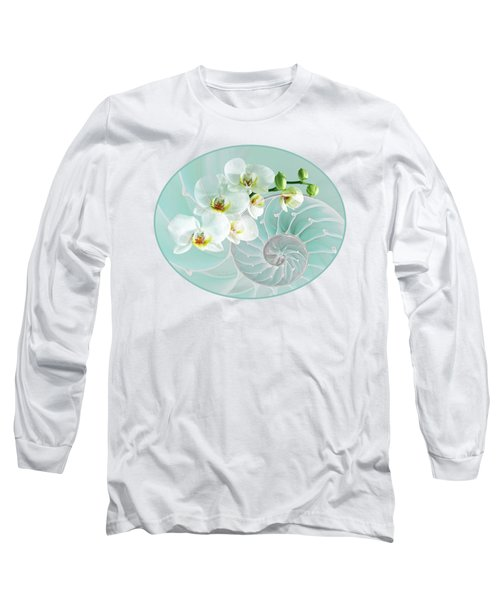Intimate Fusion In Turquoise Long Sleeve T-Shirt by Gill Billington