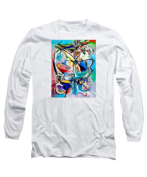 Long Sleeve T-Shirt featuring the painting Intimate Glimpses - Journey Of Life by Kerryn Madsen-Pietsch