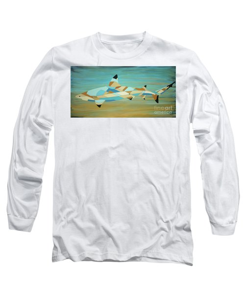 Into The Blue I Shark Painting Long Sleeve T-Shirt