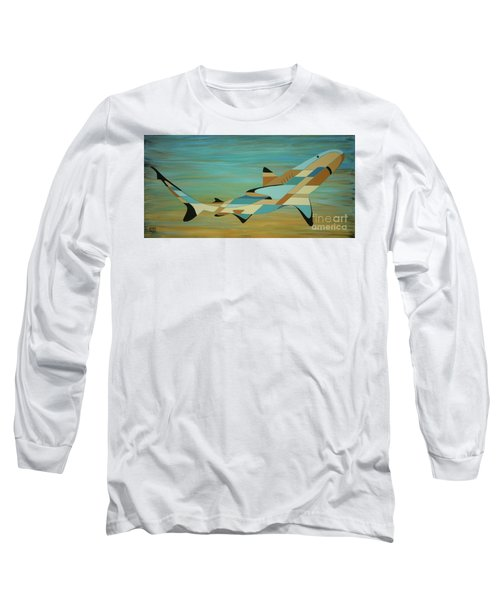 Into The Blue Shark Painting Long Sleeve T-Shirt