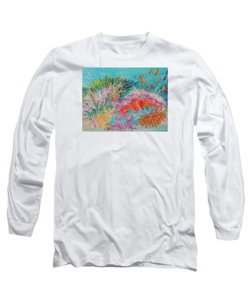 Long Sleeve T-Shirt featuring the painting Feeding Time # 3 by Lyn Olsen