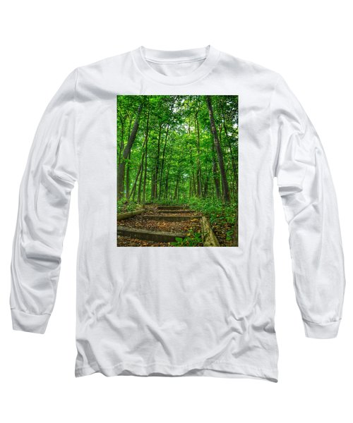 Long Sleeve T-Shirt featuring the photograph Into The Forest by Nikki McInnes