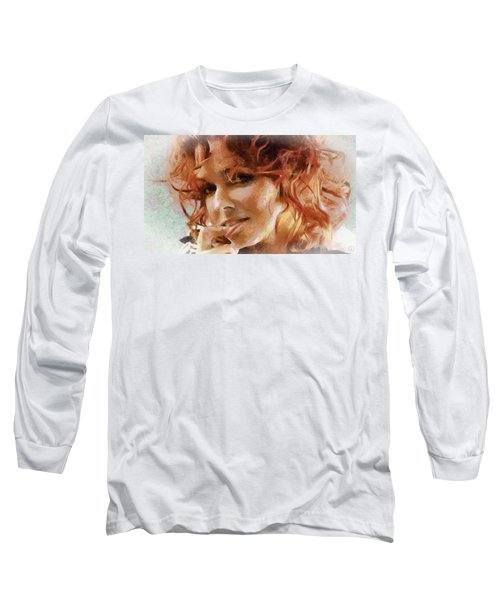 Long Sleeve T-Shirt featuring the digital art Inviting Smile by Gun Legler