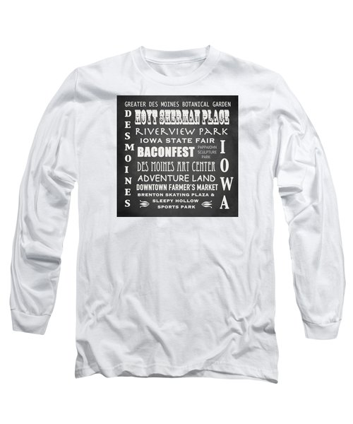 Iowa Famous Landmarks Long Sleeve T-Shirt