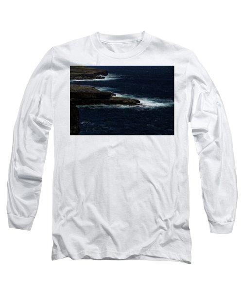 Ireland Inishmore Aran Island Coastal Landscape Long Sleeve T-Shirt