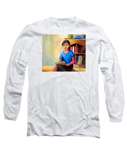 Long Sleeve T-Shirt featuring the painting Irene by Jason Sentuf