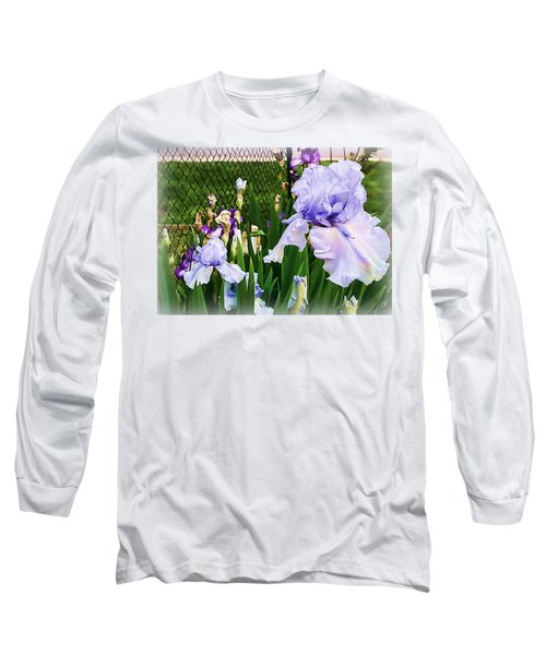 Iris At Fence Long Sleeve T-Shirt