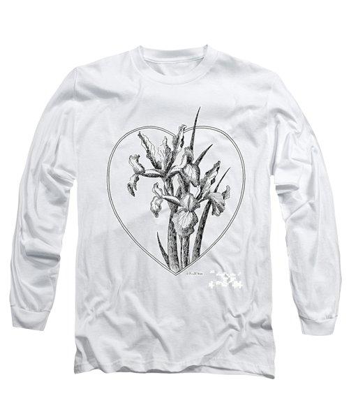 Iris Heart Drawing 3 Long Sleeve T-Shirt