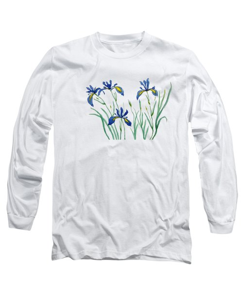 Iris In Japanese Style Long Sleeve T-Shirt by Color Color