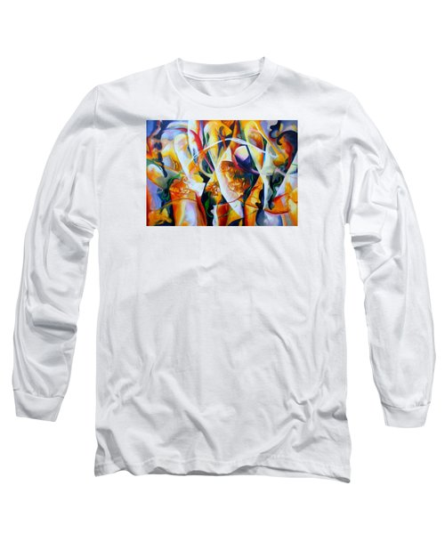 Long Sleeve T-Shirt featuring the painting Irish Madness by Georg Douglas