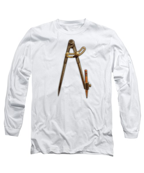Long Sleeve T-Shirt featuring the photograph Iron Compass Pattern by YoPedro