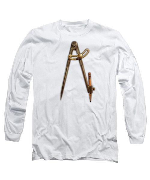 Iron Compass Pattern Long Sleeve T-Shirt