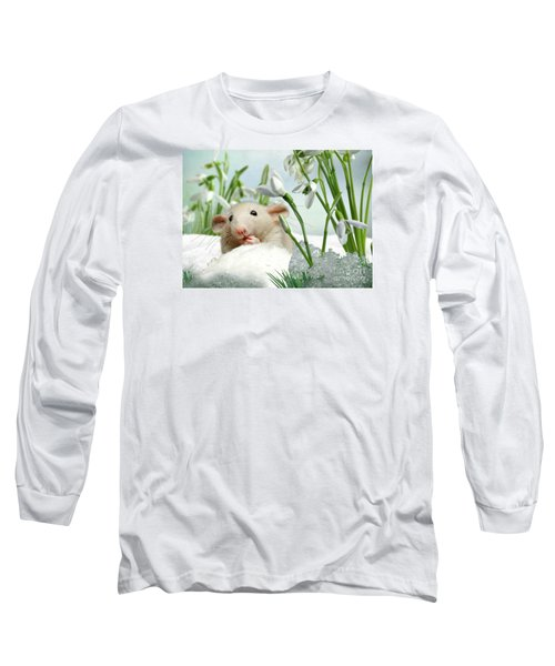Is It Spring Yet ? Long Sleeve T-Shirt by Morag Bates