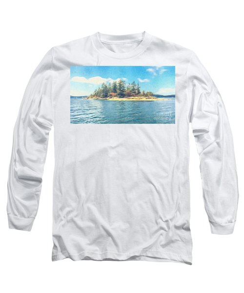 Island In The Sound Long Sleeve T-Shirt by William Wyckoff