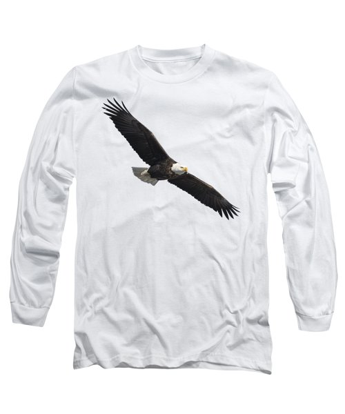 Isolated American Bald Eagle 2016-2 Long Sleeve T-Shirt by Thomas Young