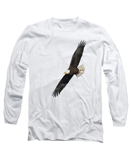 Isolated American Bald Eagle 2016-3 Long Sleeve T-Shirt by Thomas Young