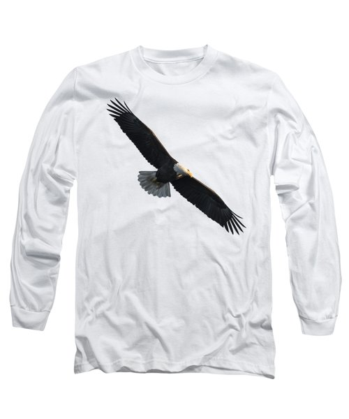 Isolated American Bald Eagle 2016-5 Long Sleeve T-Shirt by Thomas Young
