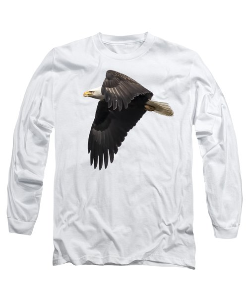 Isolated American Bald Eagle 2016-6 Long Sleeve T-Shirt by Thomas Young