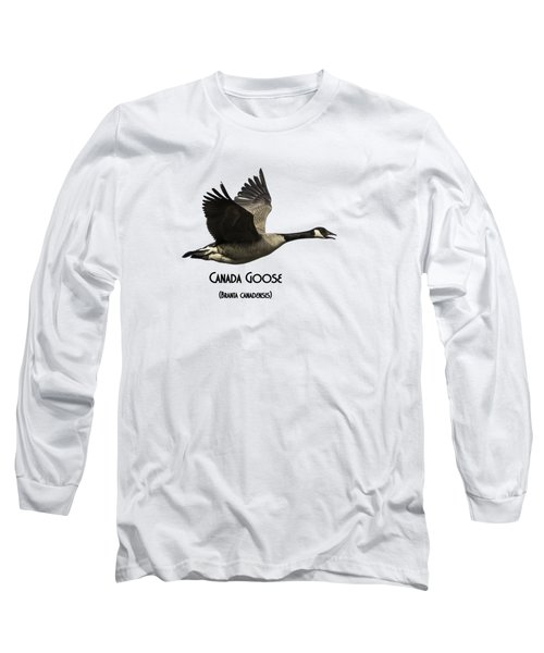 Isolated Canada Goose 2015-1 Long Sleeve T-Shirt by Thomas Young