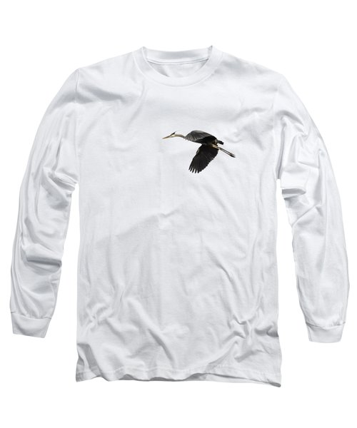Isolated Great Blue Heron 2015-1 Long Sleeve T-Shirt