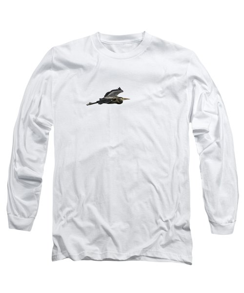 Isolated Great Blue Heron 2015-2 Long Sleeve T-Shirt by Thomas Young
