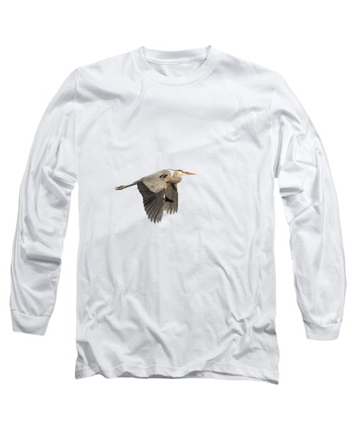 Isolated Great Blue Heron 2015-5 Long Sleeve T-Shirt
