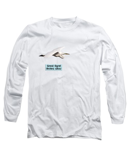 Isolated Great Egret 2018-1 Long Sleeve T-Shirt