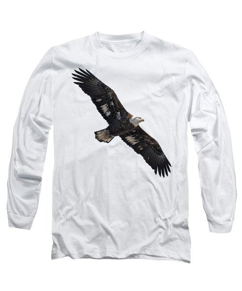 Isolated Juvenile American Bald Eagle 2016-1 Long Sleeve T-Shirt